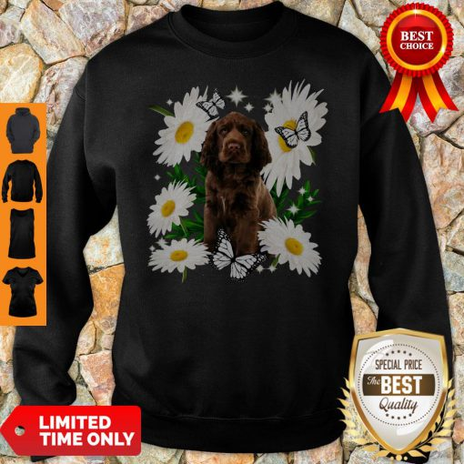 Official Sussex Spaniel Daisy Flower Classic Sweatshirt