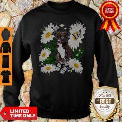 Staffordshire Bull Terrier Dog Daisy Flower Classic Sweatshirt