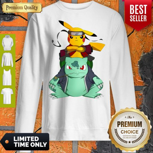 Pokemon Pikachu And Bulbasaur Mashup Naruto Jiraiya Sweatshirt