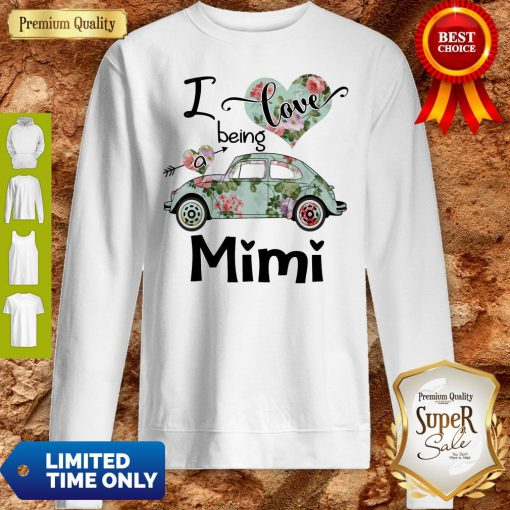 Official Floral Car I Love Being A Mini Sweatshirt
