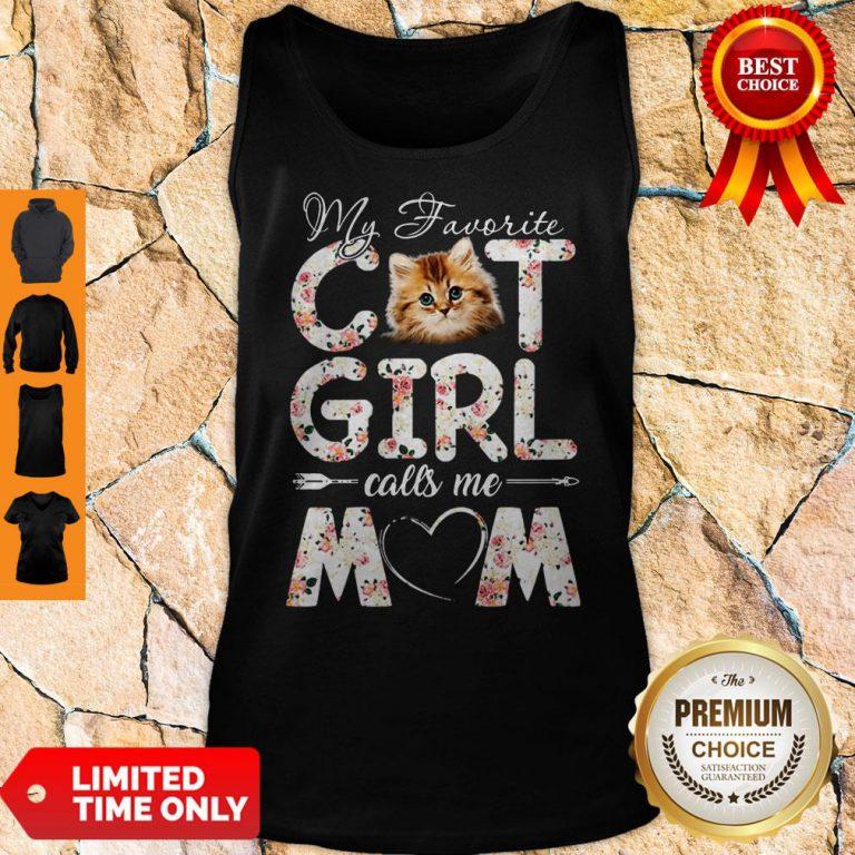 Official My Favorite Cat Girl Calls Me Mom Tank Top