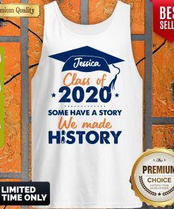 We Made History Senior 2020 Personalized Tank Top