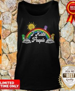 Official The Sun Woke Up I Hate People Tank Top