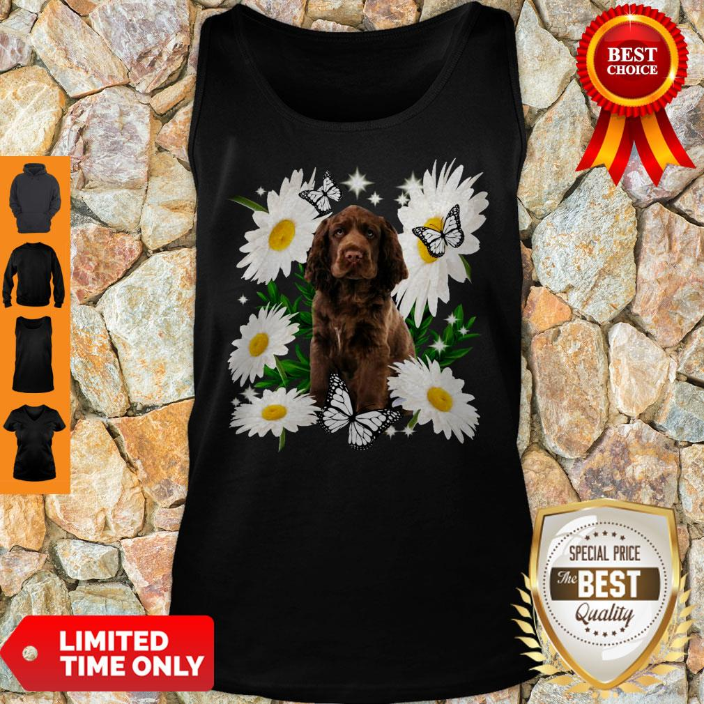 Official Sussex Spaniel Daisy Flower Classic Tank Top