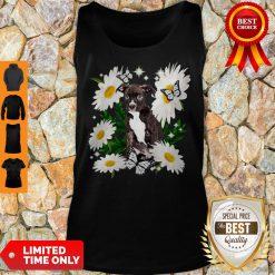 Staffordshire Bull Terrier Dog Daisy Flower Classic Tank Top