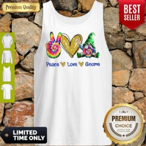 Official Peace Love Gnome Diamond Tank Top