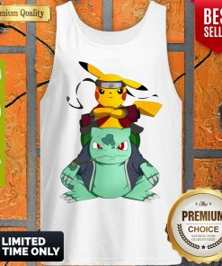 Pokemon Pikachu And Bulbasaur Mashup Naruto Jiraiya Tank Top
