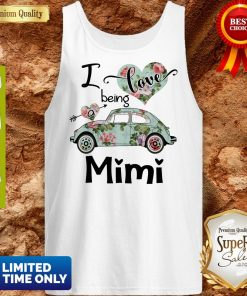Official Floral Car I Love Being A Mini Tank Top