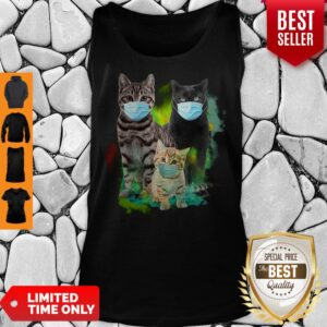 Official Three Cat Wear Face Mask Tank Top