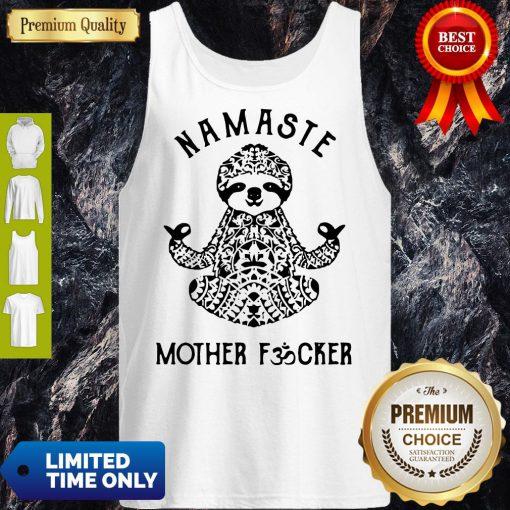 Official Sloth Yoga Namaste Mother Fucker Tank Top