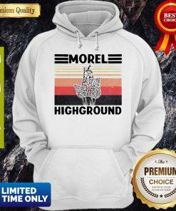 Top Mushroom Hunter Snail Morel Highground Vintage Hoodie