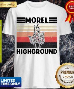Top Mushroom Hunter Snail Morel Highground Vintage Shirt
