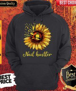 Top Sunflower Nail Hustler Hoodie