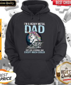 Unicorn I'm A Heavy Metal Dad Just Like A Normal Classic Hoodie