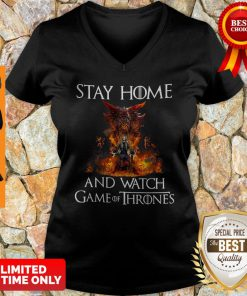 Official Stay Home And Watch Game Of Thrones V-neck
