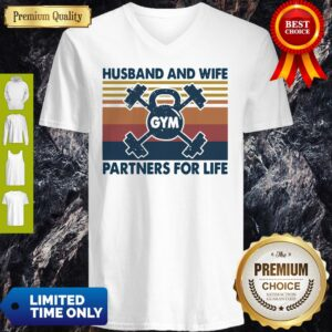 Gym Husband And Wife Partners For Life Vintage V-neck