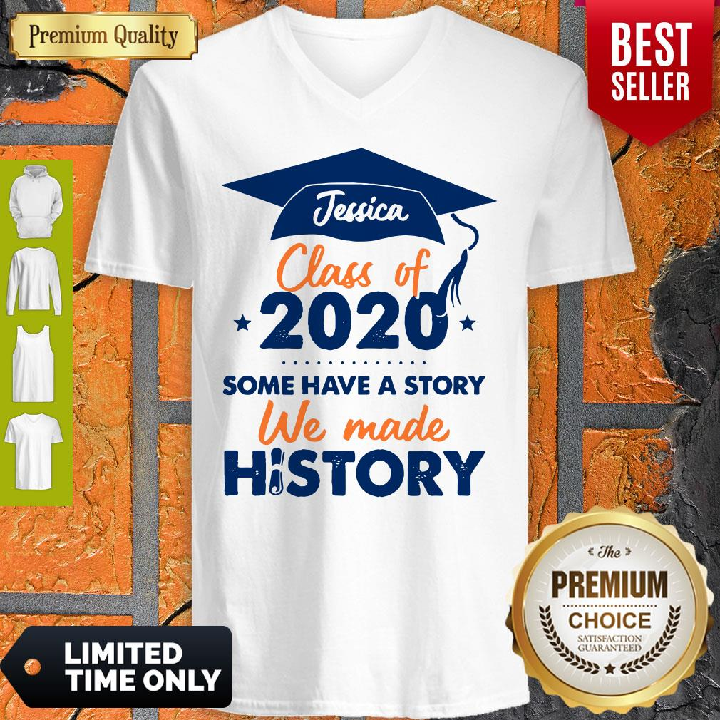 We Made History Senior 2020 Personalized V-neck