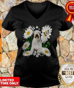 Official Soft Coated Wheaten Terrier Daisy Flower Classic V-neck