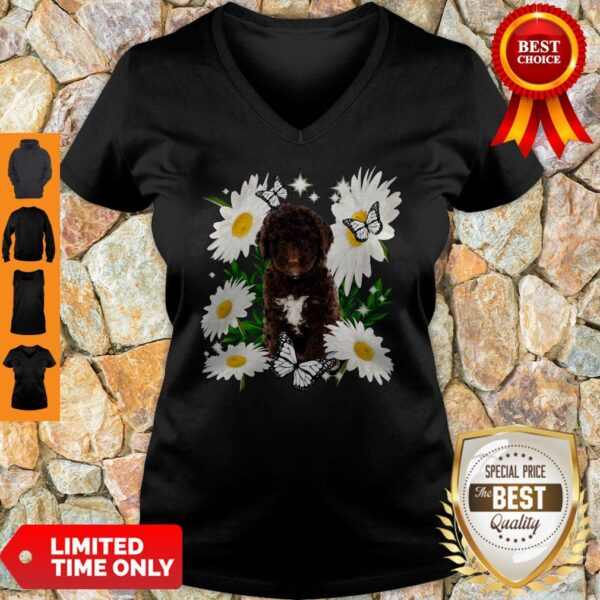 Official Spanish Water Dog Daisy Flower Classic V-neck