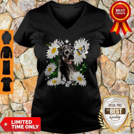 Official Standard Schnauzer Daisy Flower Classic V-neck