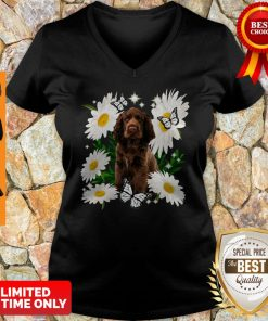 Official Sussex Spaniel Daisy Flower Classic V-neck