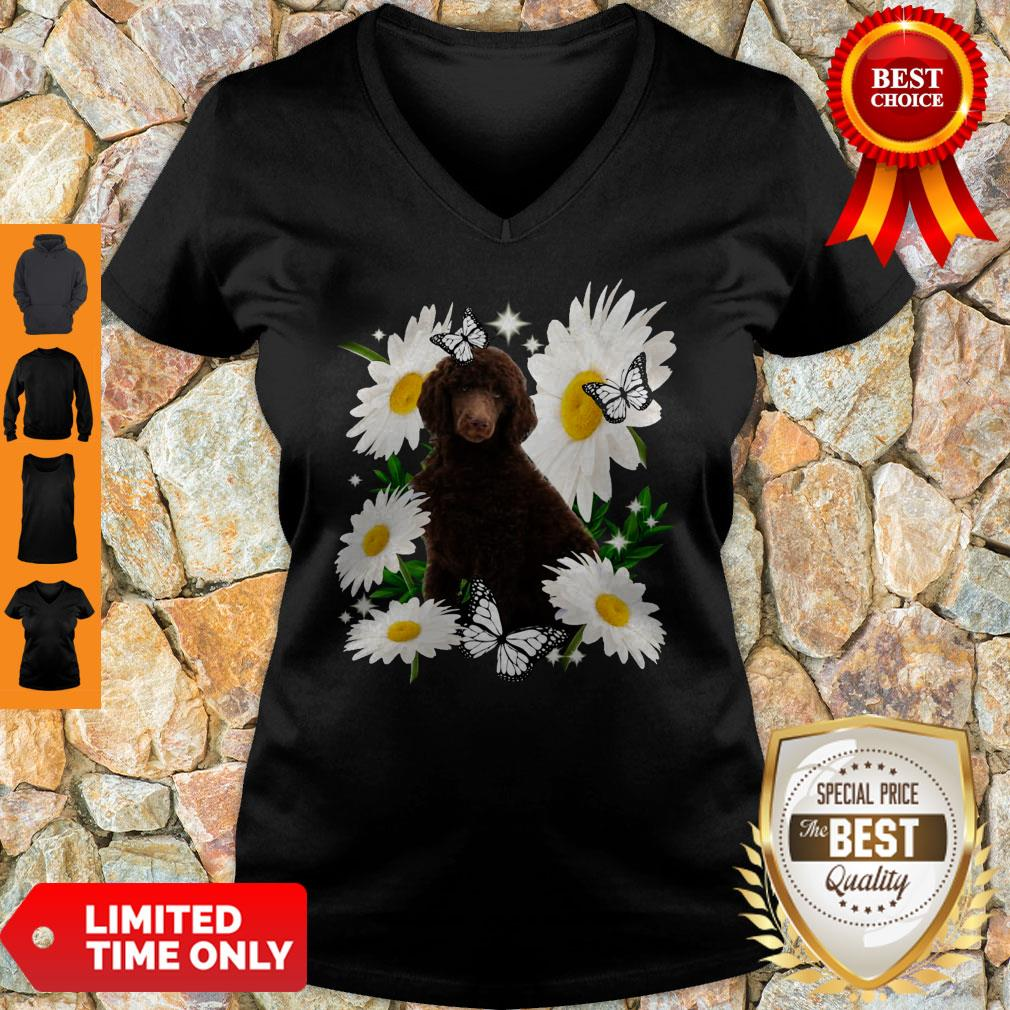 Official Standard Poodle Daisy Flower Classic V-neck