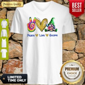 Official Peace Love Gnome Diamond V-neck