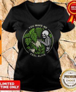 Official Skeleton You Make Me Feel Alive V-neck