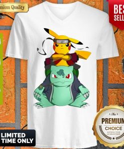 Pokemon Pikachu And Bulbasaur Mashup Naruto Jiraiya V-neck