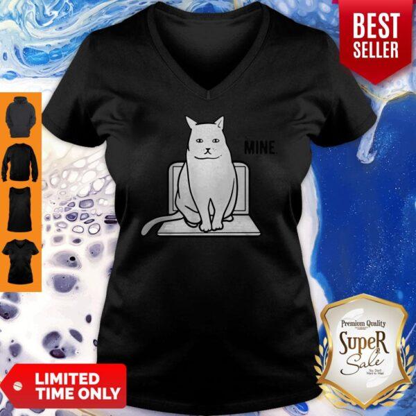 Official Mine Computer Cat V-neck
