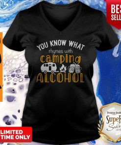 You Know What Rhymes With Camping Alcohol V-neck