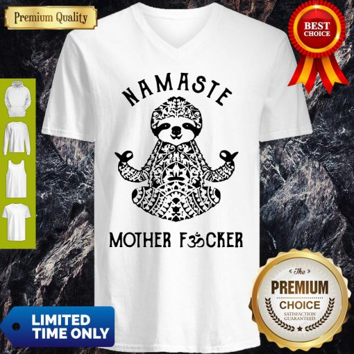 Official Sloth Yoga Namaste Mother Fucker V-neck