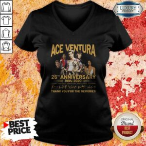 Ace Venture 26th Anniversary 1994 2020 Thank You For The Memories Signatures V-neck