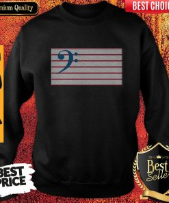 Bass Guitar Clef Flag Embroidered Sweatshirt