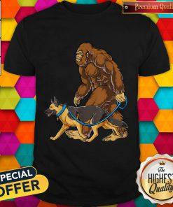 Bigfoot Dog Walk German Shepherd Shirt