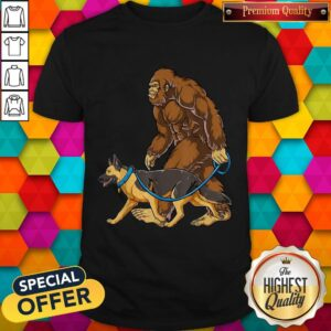 Bigfoot Dog Walk German Shepherd Shirt