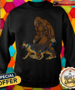 Bigfoot Dog Walk German Shepherd Sweatshirt