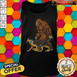 Bigfoot Dog Walk German Shepherd Tank Top