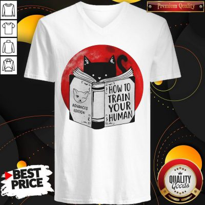 Black Cat Advanced Edition How To Train Your Human Moon V-neck