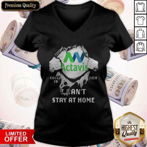 Blood Inside Me Actavis COVID 19 2020 I Can't Stay At Home V-neck