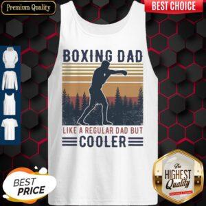 Boxing Dad Like A Regular Dad But Cooler Vintage Tank Top
