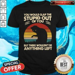 Cat You Would Slap The Stupid Out Of You But There Wouldn_t Be Anything Left Vintage Shirt