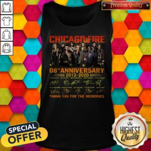Chicago Fire 08th Anniversary 2012 2020 Thank You For The Memories Signatures Tank Top