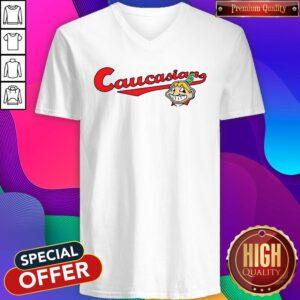 Cleveland Caucasian Mascot V-neck