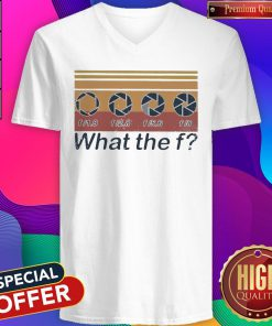 F 1.8 F 2.8 F 5.6 F 8 What The F Vintage V-neck