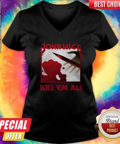 Funny John Wick Kill 'em All V-neck