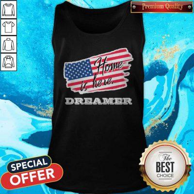 Home Is Here Dreamer American Flag Tank Top