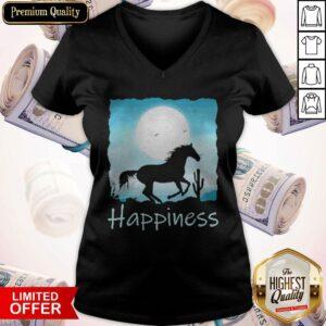 Horse Moon Happiness V-neck