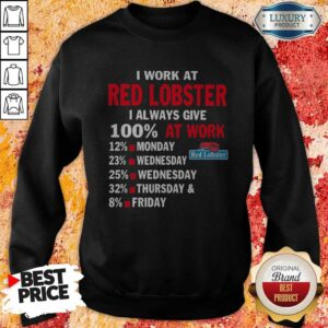 I Work At Red Lobster I Always Give 100 At Work Sweatshirt