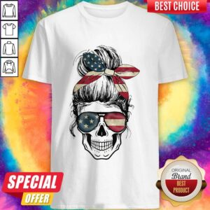 Independence Day Skull Lady America Shirt